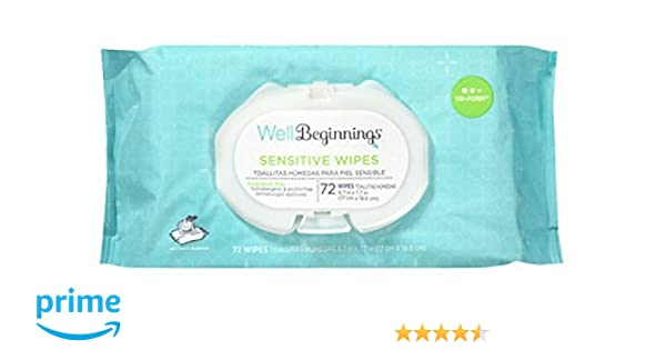 Amazon.com : Well Beginnings Premium Baby Wipes Softpack, Sensitive 72 Ea : Baby