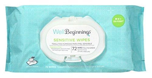Well Beginnings Premium Baby Wipes Softpack, Sensitive 72 Ea by Well Beginnings