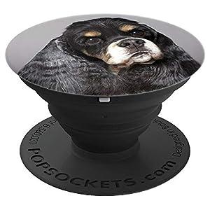 Cocker Spaniel Black/White - Dog - Canine Phone Accessory 1