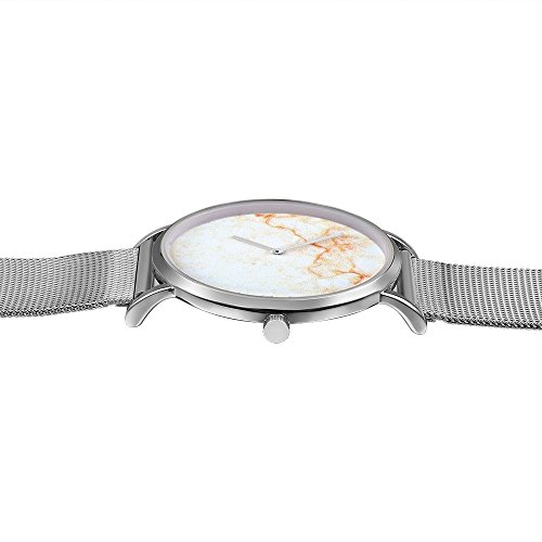 Dig dog bone 6812 Round Dial Alloy Silver Case Fashion Couple Watch Men & Women Lover Quartz Watches With Stainless Steel Band (SKU : Wa0724a) by Dig dog bone (Image #3)