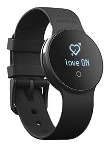 Geeksme GME1 - SmartWatch (Bluetooth Smart BLE 4.0, pantalla táctil de cristal OLED monocroma, acelerómetro 3D, vibrador, compatible con Android 4.3 y superior e iOS 7 y superior), negro