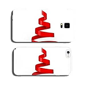 Christmas. 3D. Ribbon christmas tree cell phone cover case iPhone5