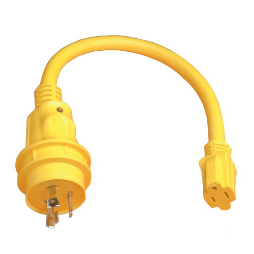 - 1 - Marinco Pigtail Adapter - 15A Female to 30A Male