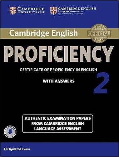 Buy Cambridge English Proficiency 2 Student's Book with