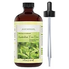Body Wonders 100% Pure Australian Tea Tree Oil, Therapeutic Grade, 4 Fl Oz (4 Oz)