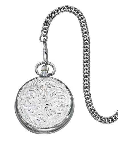 Montana Silversmiths Engraved Silver Pocket Watch