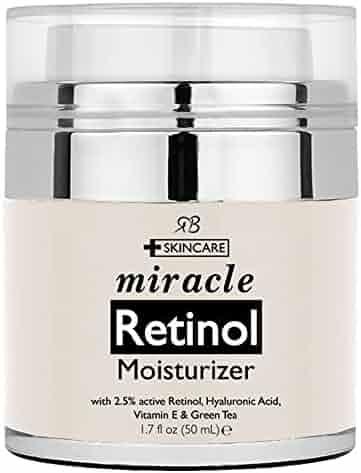 Retinol Moisturizer Cream for Face - With Retinol, Hyaluronic Acid, vitamin e and Green Tea. Best Night and Day Moisturizing Cream 1.7 Fl. Oz.