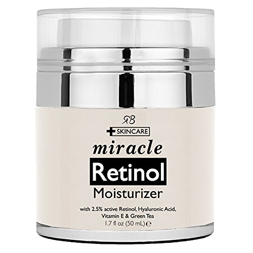 Retinol Moisturizer Cream for Face - with Retinol, Hyaluronic Acid, Vitamin E and Green Tea. Best Night and Day Moisturizing Cream 1.7 fl oz. - Hyaluronic Acid Day Cream