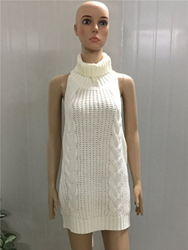 E-Bestar - Camiseta sin mangas - para mujer blanco