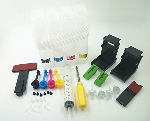 Eatech Empty Ciss Continuous Ink Supply System for HP, Canon Inkjet deskjet Printer