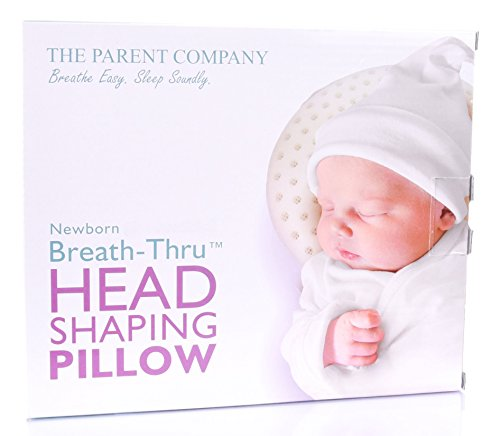 Newborn (Premie) Baby Head Shaping Pillow | Breathe-Thru Cushion for Head Support & Flat Head Syndrome (Positional Plagiocephaly) Prevention | 13-17 Inch Head Circumference by The Parent Company