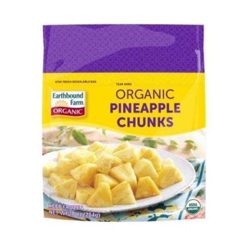Earthbound Farm Organic Pineapple Chunks, 10 Ounce - 12 per case.