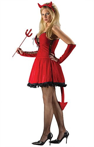 [Funworld Womens Sexy Devil Halloween Theme Party Fancy Dress Costume, Small/Medium (2-8)] (Cheap Ladies Devil Costume)