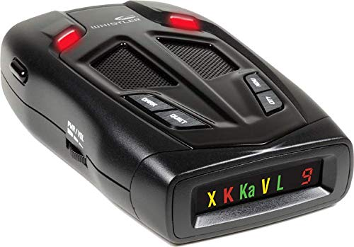 Whistler Z-15R High Performance Radar Laser Detector with Real Voice Alerts ,Total Laser Detection and Icon Display with Digital Strength Indicator by Whistler