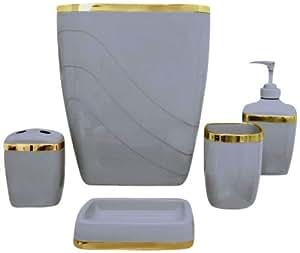 Carnation home fashions set de accesorios pl sticos para - Accesorios de bano amazon ...