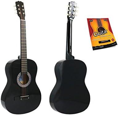 Star - Guitarra acústica (38 pulgadas, con guía para principiantes ...