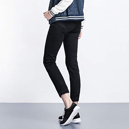 Autunno 40 Plus Neri Full L Disponibile Jeans Dritti 120kg Length Strappati 6l Size Elastico 4l Donna Vita Foro Media Rlwfjxh Moda Donn YExzzwC