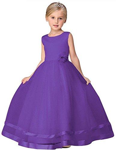 Robe Ballon Tulle Dentelle D'honneur Fleur 104 128 Violet 152 116 Floral Fille Demoiselle Taille Court Princesse De Soir Bal 164 Et Agogo Fête 140 xvE7wqn5