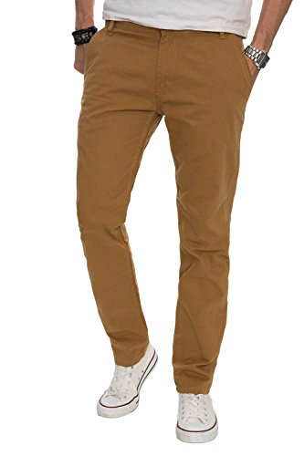 As016 Marrón Hombre Pantalones Normal A Para Corte Claro Chinos Salvarini Zv7Cxw58wq