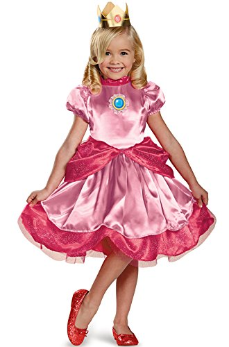 Nintendo Super Mario Brothers Princess Peach Girls Toddler Costume, Medium/3T-4T]()