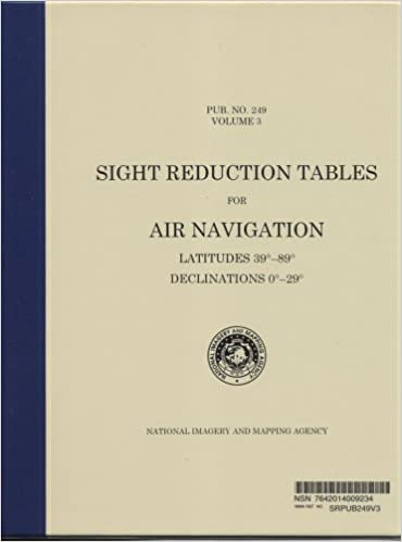 Sight Reduction Tables for Air Navigation, Vol. 3 : Latitudes 39-89 ...