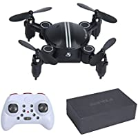 Mochiglory Mini Foldable Remote Controll Airplane Outdoor Toy 2.4GHz Quadcopter RC 3D Flying Drone