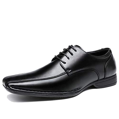 OUOUVALLEY Classic Formal Lace up Leather Lining Modern Oxford Shoes OUOU-006 (9 D(M) US, Black)