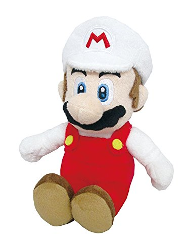 Little Buddy Super Mario All Star Collection 1420 Fire Mario Stuffed Plush, 9.5