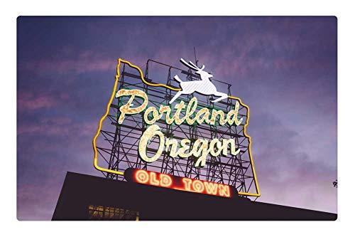 Indoor Floor Rug/Mat (23.6 x 15.7 Inch) - Portland Oregon Tourism Pacific Northwest USA