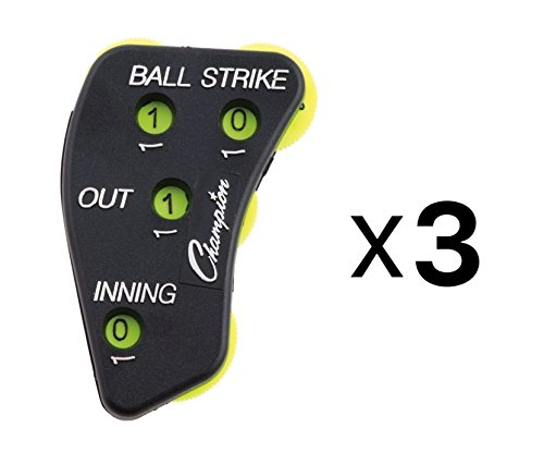 (Champion Sports 4 Wheel Optic Yellow Call Order Umpire Indicator - PI4)