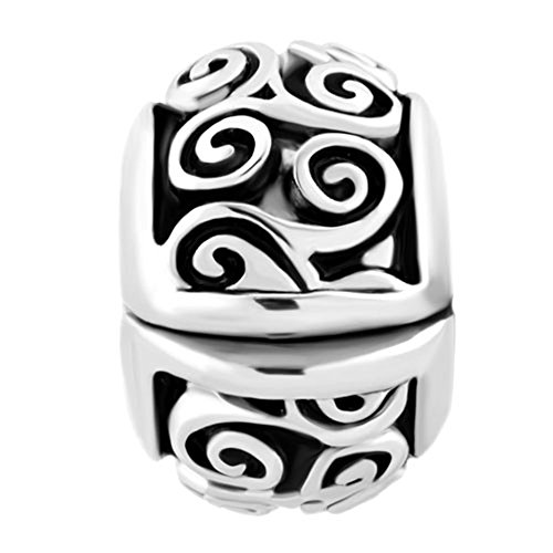 Lovelyjewelry Irish Celtic Swirl Flower Clip Lock Stopper