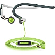 Sennheiser PMX 686G - Auriculares deportivos contorno de cuello, color negro/verde