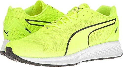 PUMA Men's Ignite 3 Pwrcool Cross-Trainer Shoe, Safety Yellow-Asphalt, 11.5 M US