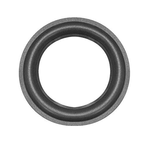 uxcell フォームエッジ 外径155mm ブラック フォーム サラウンドリング交換 スピーカー修理DIY スピーカーリング交換 1個入り