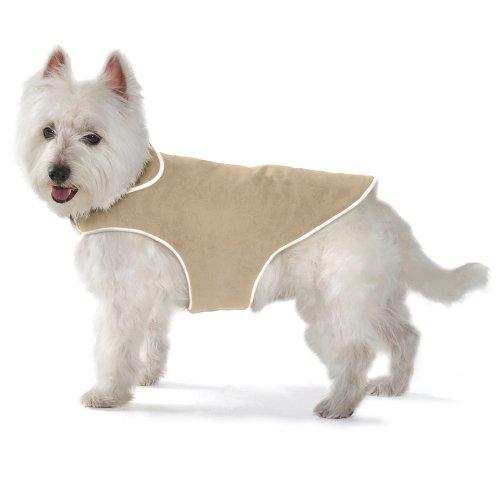Dog Gone Smart Khaki - Dog Gone Smart Jacket with Ecru Piping for Dogs, 20-Inch, Khaki