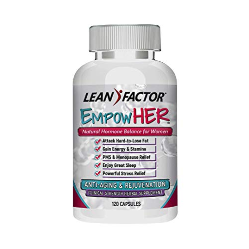 EmpowHER - Natural Hormone Balance for Women - Hot Flash & Menopause Relief - Reduce PMS & Night Sweats - Support Healthy Weight Loss - Safe & Effective Herbal Supplement - 120 Pills