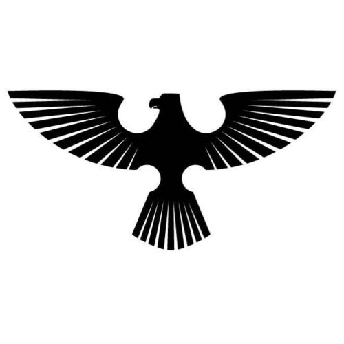 ELKS Unique Design Eagle Spread Wings Silhouette CAR Decal Sticker, White, 6 Inch, Die Cut Vinyl Decal, for Windows, Cars, Trucks, Toolbox, Laptops, MacBook-virtually Any Hard Smooth Surface