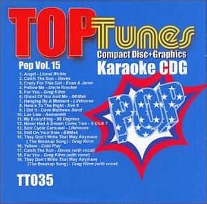 Top Tunes Karaoke CDG Male Pop Vol. 15 TT-035