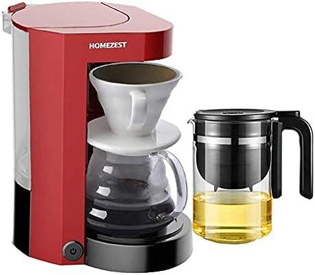 YTS Mini máquina de café automática Americana de la Mano del Goteo del hogar (Color : Red): Amazon.es: Hogar