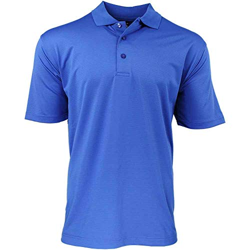PAGE & TUTTLE Mens Cool Swing Textured Ottoman Golf Athletic Polo Blue XL
