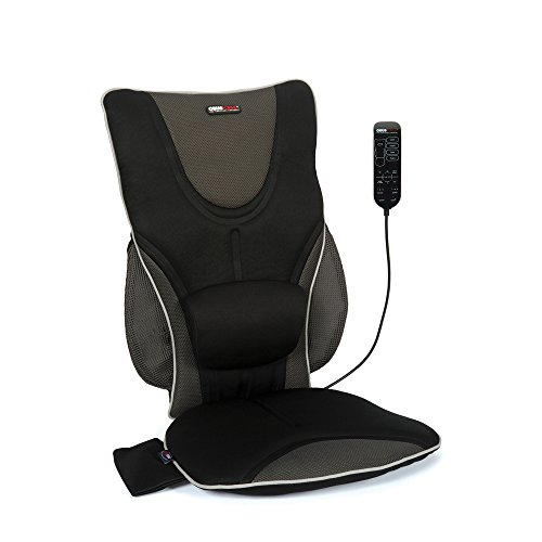 Back Support Drivers Seat Cushion with Lumbar Pad + Heat + Massage by ObusForme
