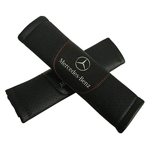 - 2pcs Set Mercedes Benz Car Seat Safety Belt Covers Leather Shoulder Pad Accessories Fit for Mercedes Benz Car Model