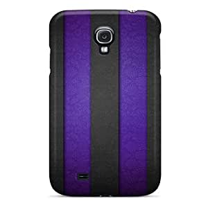 Galaxy S4 Case, Premium Protective Case With Awesome Look - Stripe Wall Purple by lolosakes