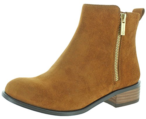Jessica Simpson Kesaria Casual Leather Booties Brown Size 9