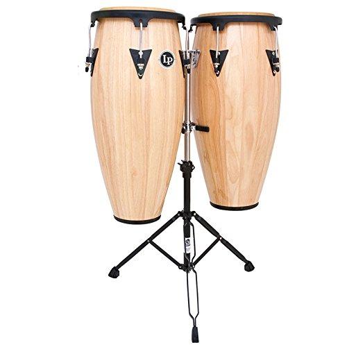 Latin Percussion LPA647-AW Conga Drum Natural / Black Aspire Wood Conga Set