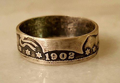BARBER QUARTER COIN RING -.90 SILVER