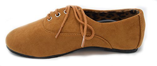 Bare Kronbladene Jenter Blonder-up Oxford Ballett Flat Cognac