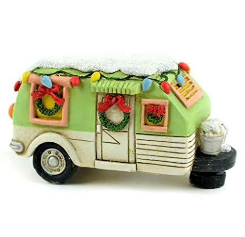 (TM Miracle Store Fairy Garden Dollhouse Lawn Yard Decoration Resin Miniature Ornament Garden Christmas Green Camper)