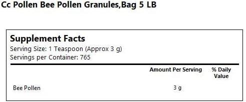 C C Pollen Bee Pollen Granules Bulk — 5 lbs