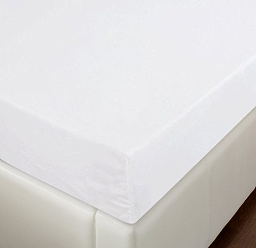 Super 100 Fabric - Utopia Bedding Premium Cotton Fitted Sheet Thread Count 300 (Queen, White) – 100% Combed Cotton Sateen - Super Soft Mercerized Fabric - Machine Washable